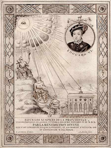 Enluminure Histoire Eglise protestante Londres