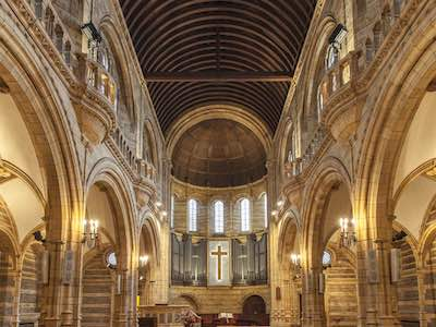 Eglise protestant interieur architecture aston webb
