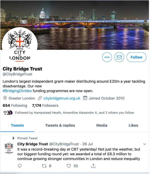 City Bridge Trust funds the French Protestant Church of London