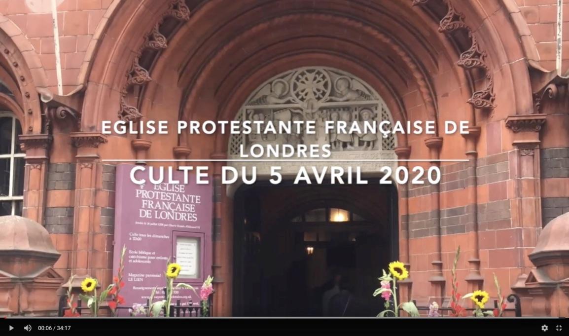 Culte du 5 avril 2020