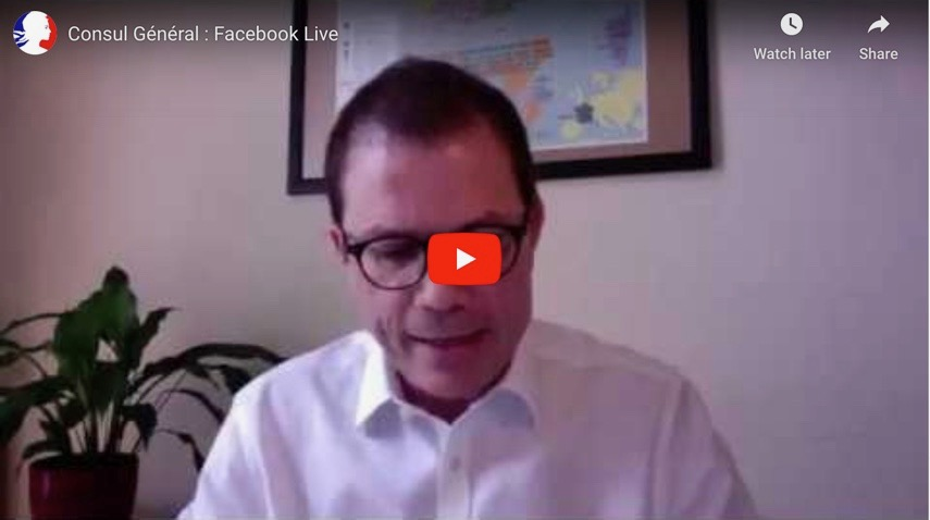 Consul général de France Facebook live